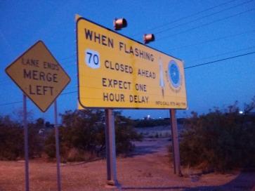Road Closing Sign