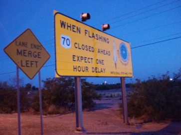 Road Closing Sign