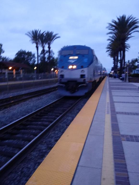 Amtrak an hour an a half late